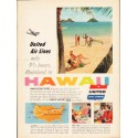 """1953 United Air Lines Ad """"Mainland to Hawaii"""""""