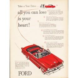 "1953 Ford Crestline Ad ""Take a Test Drive"" ... (model year 1953)"