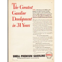 "1953 Shell Gasoline Ad ""The Greatest Gasoline"""