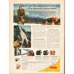 "1953 Kodak Ad ""more from your trip"""