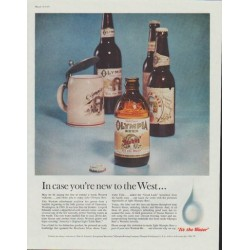 "1961 Olympia Beer Ad ""In case you're new to the West ..."""