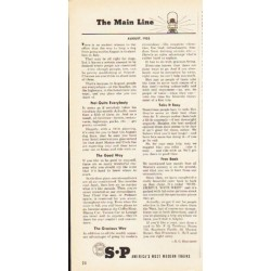 "1953 Southern Pacific Lines Ad ""The Main Line"""