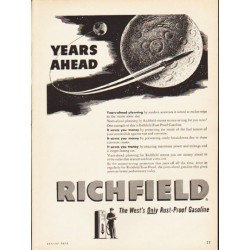 "1953 Richfield Gasoline Ad ""Years Ahead"""