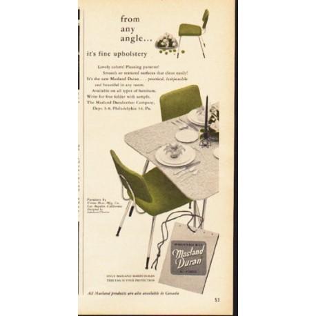 "1953 Masland Duran Ad ""from any angle"""