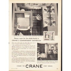 "1953 Crane Company Ad ""Compartment Bathroom"""