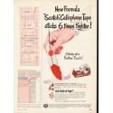 "1953 Scotch Tape Ad ""New Formula"""