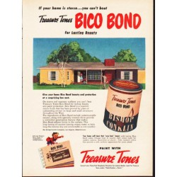 "1953 Treasure Tones Ad ""If your home is stucco"""