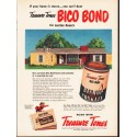 """1953 Treasure Tones Ad """"If your home is stucco"""""""