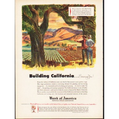 "1953 Bank of America Ad ""Building California"""