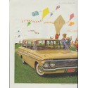 "1961 General Motors Ad ""High-flying fun on a windswept March day!"""