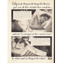 "1953 Lady Pepperell Ad ""Snug Fit Sheets"""