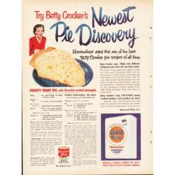 "1953 Betty Crocker Ad ""Newest Pie Discovery"""