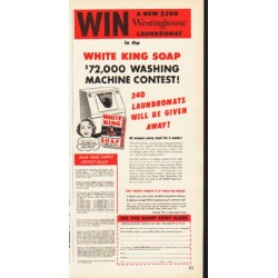 "1953 White King Soap Ad ""Win"""
