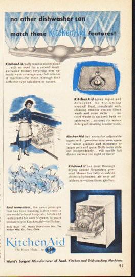 1953 Kitchenaid Vintage Ad Quot No Other Dishwasher Quot