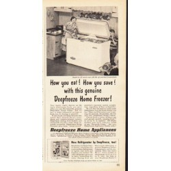"1953 Deepfreeze Ad ""How you eat"""