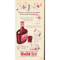 "1953 Guild Wine Ad ""The new wine flavor"""