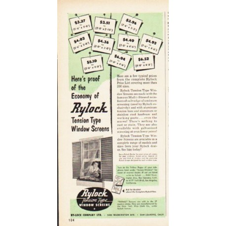 """1953 Rylock Ad """"Here's proof"""""""