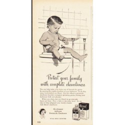 "1953 Hexol Germicide Ad ""Protect your family"""