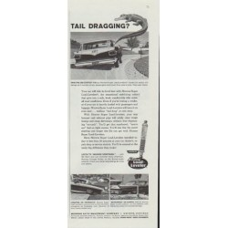 "1961 Monroe Shock Absorber Ad ""Tail Dragging?"""