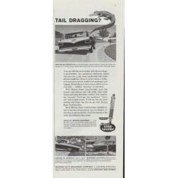 "1961 Monroe Shock Absorber Ad ""Tail Dragging?"""