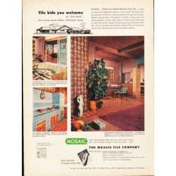"1953 Mosaic Tile Ad ""Tile bids you welcome"""