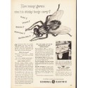 """1953 General Electric Ad """"How many germs"""""""