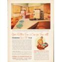 """1953 Pomona Tile Ad """"Your Kitchen-Time"""""""