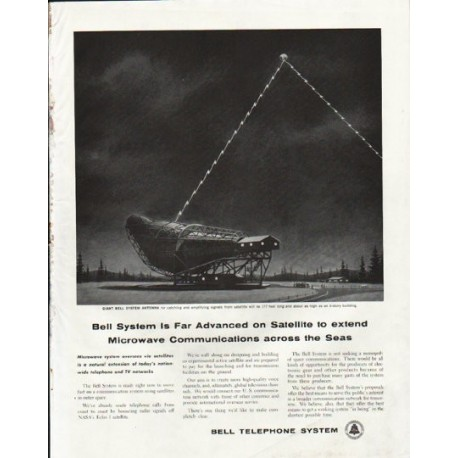 """1961 Bell Telephone System Ad """"Far Advanced"""""""