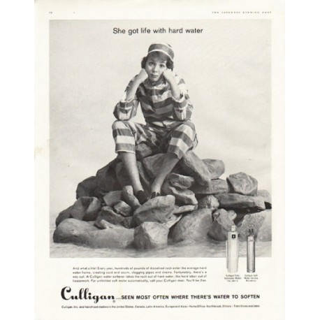 """1961 Culligan Ad """"life with hard water"""""""