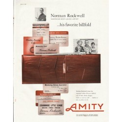 "1961 Amity Leather Products Ad ""his favorite billfold"""