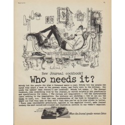 "1961 Ladies' Home Journal Cookbook Ad ""Who needs it?"""