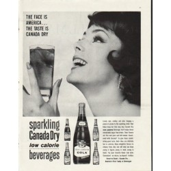 "1961 Canada Dry Ad ""The Face Is America"""