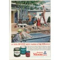 """1961 Benjamin Moore Ad """"A little MOORE paint"""""""