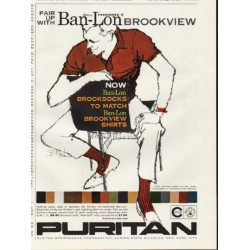 "1961 Puritan Sportswear Ad ""Pair up"""