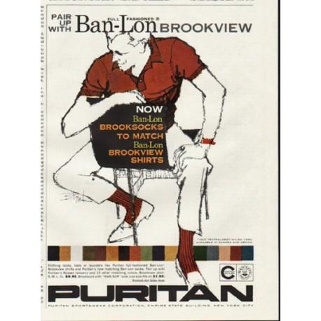 "1961 Puritan Sportswear Ad ""Pair up"""