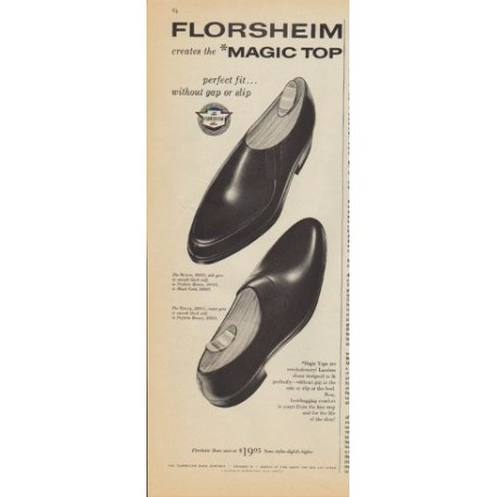 "1961 Florsheim Ad ""creates the *Magic Top"""