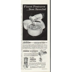 "1961 Sunbeam Mixmaster Ad ""Finest Features"""