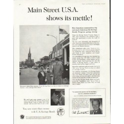 "1961 U.S. Savings Bonds Ad ""Main Street"""