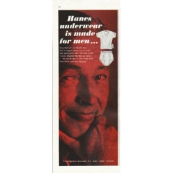 "1961 Hanes Underwear Ad ""made for men"""