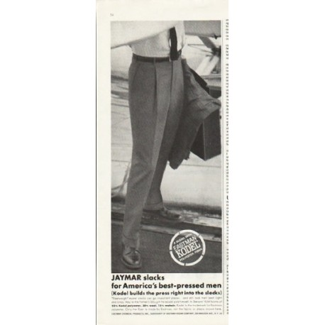 "1961 Jaymar Slacks Ad ""best-pressed men"""