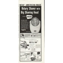 "1961 Wen Shaver Ad ""Big Shaving Head"""