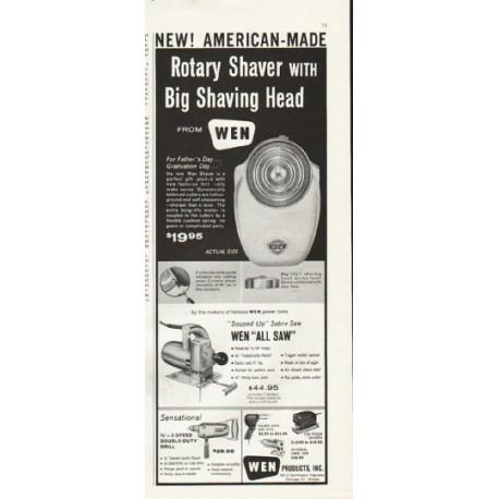 "1961 Wen Shaver Ad ""Big Shaving Head"""