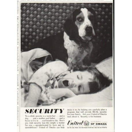 "1961 United of Omaha Ad ""Security"""