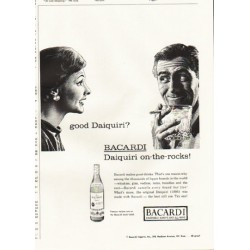 "1961 Bacardi Rum Ad ""good Daiquiri?"""