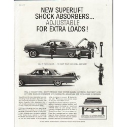 "1961 Superlift Shock Absorbers Ad ""extra loads"""