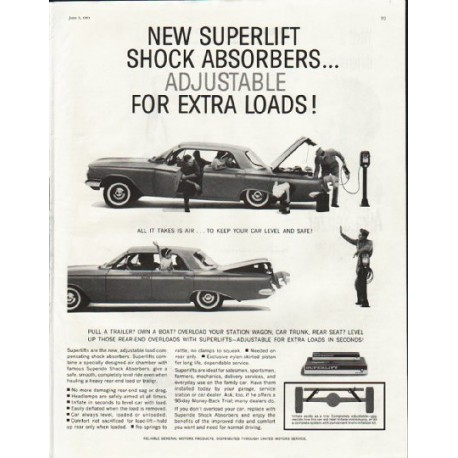 """1961 Superlift Shock Absorbers Ad """"extra loads"""""""