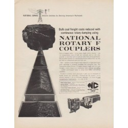 "1963 National Castings Company Ad ""Rotary F Couplers"""