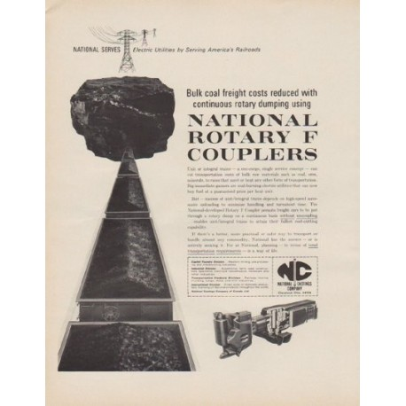 """1963 National Castings Company Ad """"Rotary F Couplers"""""""