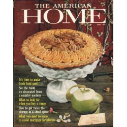 "1961 The American Home Cover Page ""photo by Stan Young"" ~ June, 1961"