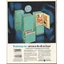 """1961 General Electric Ad """"No defrosting ever"""""""